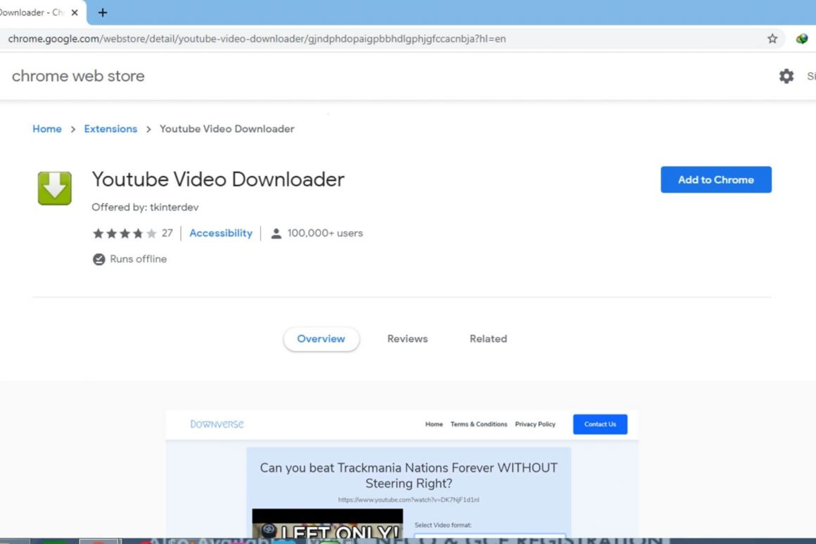 YouTube Video downloader extension image