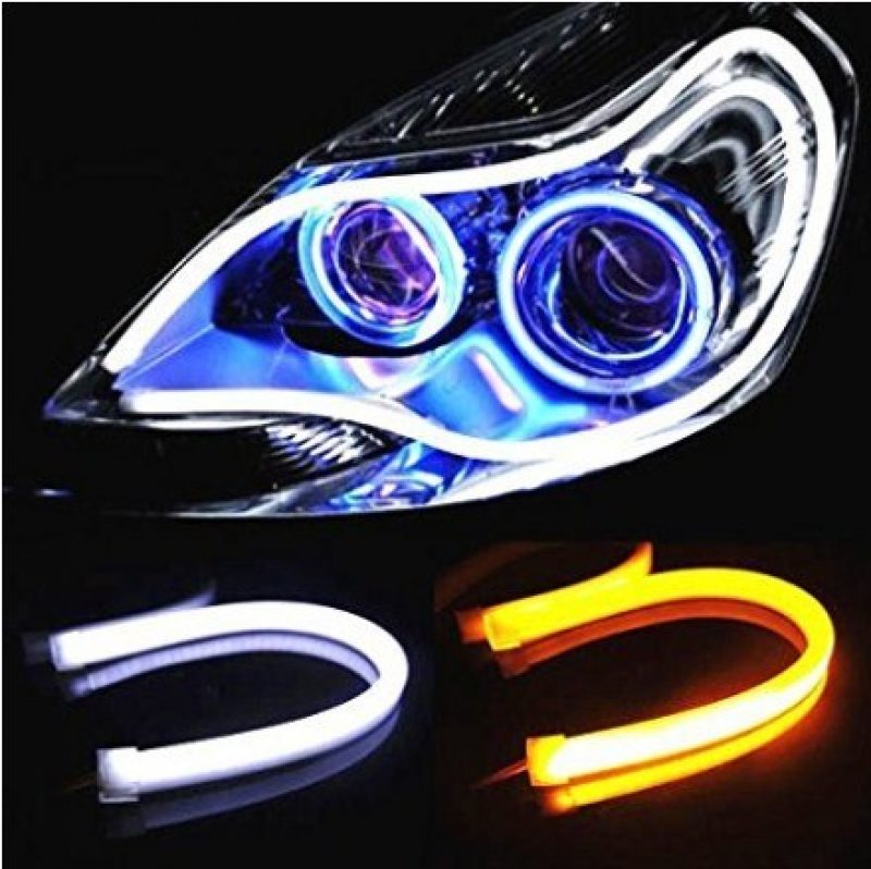 DRL LED Strip Light on a headlamp