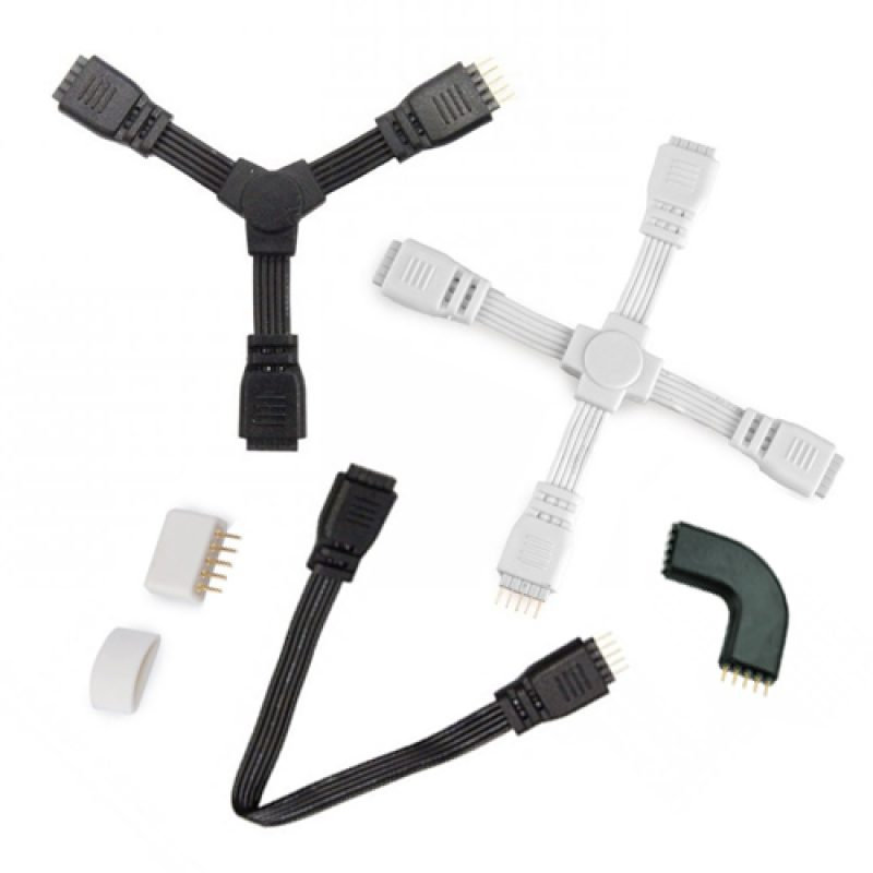 LED strip connectors for different angles
