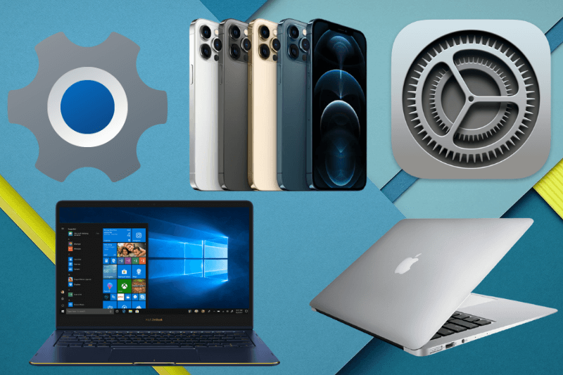 Fix settings icon missing issues for Windows 10, MacBook, and iPhone